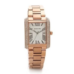 Michael Kors Emery White Dial Rose Gold Watch
